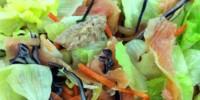 Imaginea articolului: Salata cu somon marinat si ficat de cod
