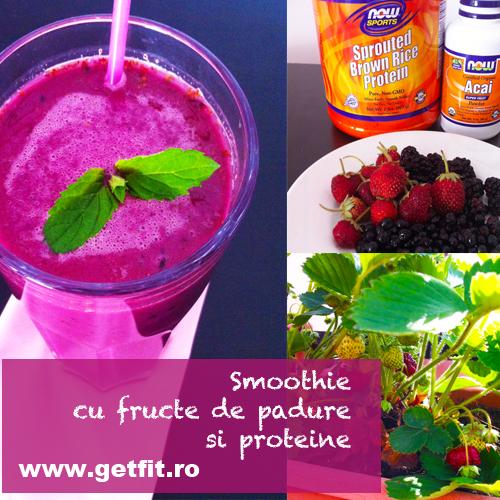 Imaginea articolului: Smoothie cu fructe de padure si proteine