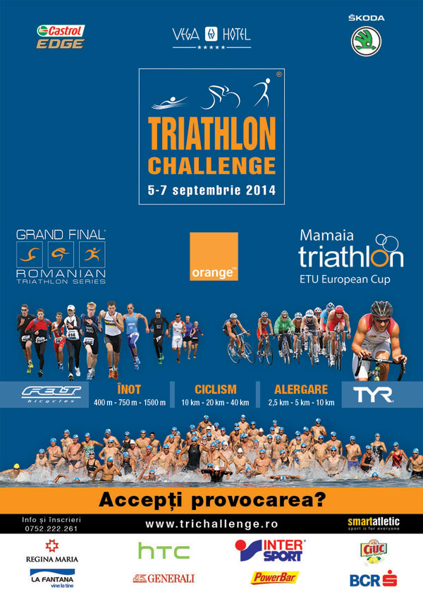 Imaginea articolului: Triathlon Challenge Mamaia 5-7 septembrie 2014